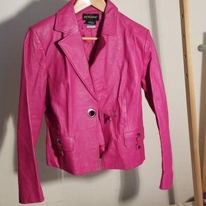 Metro style genuine leather jacket